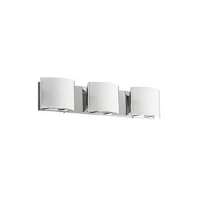 Chrome 25-Inch Three-Light Vanity