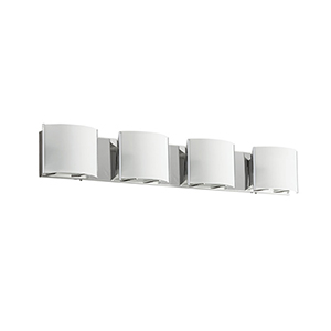 Chrome 33-Inch Four-Light Vanity