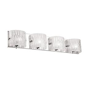 Polished Chrome 30-Inch Four-Light Vanity