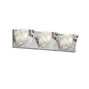 Polished Chrome Three-Light  17.5-Inch Vanity