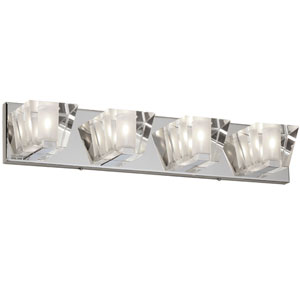 Polished Chrome Four-Light  24-Inch Vanity