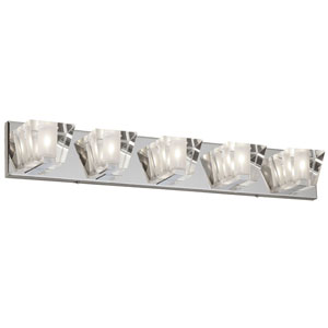 Polished Chrome Five-Light  30.5-Inch Vanity