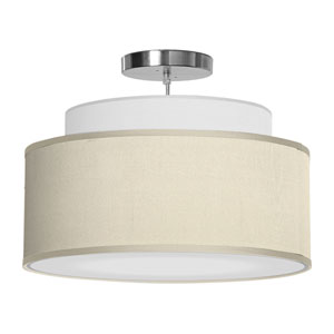 Abba Silk Cream 16-Inch One-Light Pendant