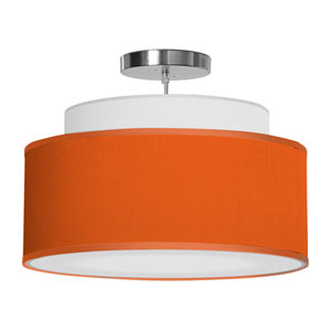 Abba Silk Orange 16-Inch One-Light Pendant