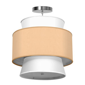 Arlo Silk Champagne 16-Inch One-Light Pendant