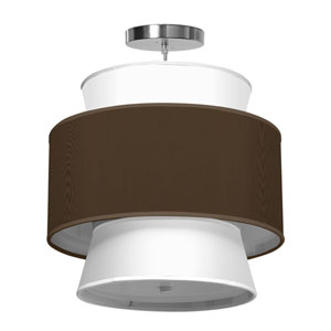 Arlo Silk Chocolate 16-Inch One-Light Pendant