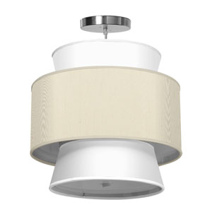 Arlo Silk Cream 16-Inch One-Light Pendant