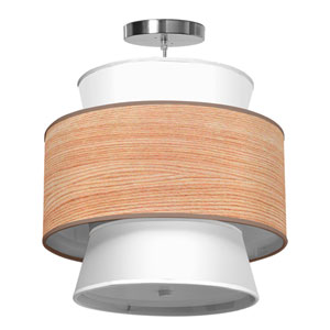 Arlo Natural Veneer 24-Inch Two-Light Pendant