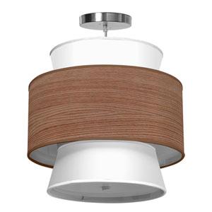Arlo Walnut Stained Veneer 16-Inch One-Light Pendant