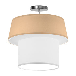 Clive Silk Champagne 18-Inch One-Light Pendant