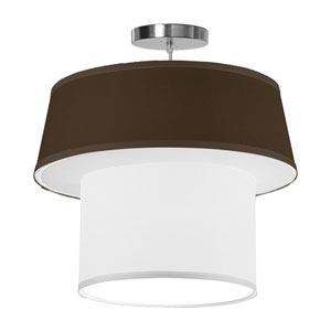 Clive Silk Chocolate 18-Inch One-Light Pendant