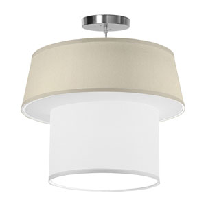 Clive Silk Cream 18-Inch One-Light Pendant