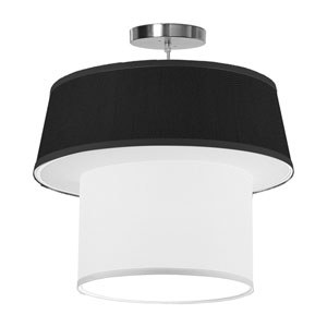 Clive Silk Ebony 18-Inch One-Light Pendant