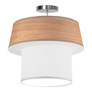 Clive Natural Veneer 20-Inch One-Light Pendant