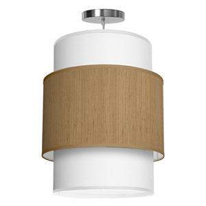 Evan Woven Bamboo 16-Inch One-Light Pendant