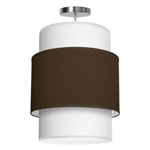 Evan Silk Chocolate 16-Inch One-Light Pendant