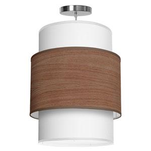Evan Walnut Stained Veneer 30-Inch Three-Light Pendant