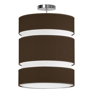 Lena Silk Chocolate 16-Inch Two-Light Pendant
