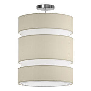 Lena Silk Cream 16-Inch Two-Light Pendant