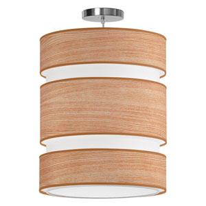Lena Natural Veneer 16-Inch Two-Light Pendant