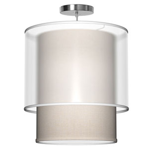 Lumiere Woven Crosshatch 16-Inch One-Light Pendant