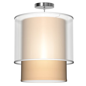 Lumiere Silk Champagne 16-Inch One-Light Pendant