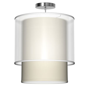 Lumiere Silk Cream 16-Inch One-Light Pendant