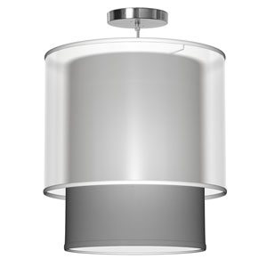Lumiere Silk Gunmetal 16-Inch One-Light Pendant