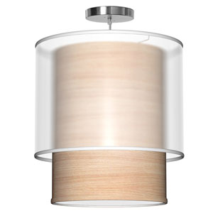 Lumiere Natural Veneer 16-Inch One-Light Pendant