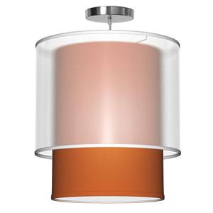 Lumiere Silk Orange 24-Inch Two-Light Pendant