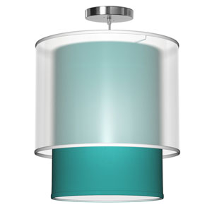 Lumiere Silk Turquoise 16-Inch One-Light Pendant