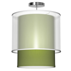 Lumiere Silk Verde 16-Inch One-Light Pendant