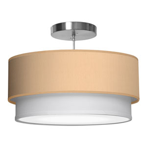 Luther Silk Champagne 16-Inch One-Light Pendant