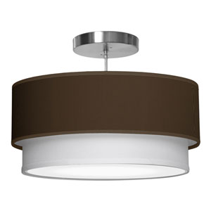 Luther Silk Chocolate 24-Inch Two-Light Pendant