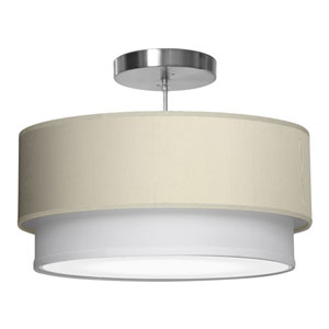 Luther Silk Cream 24-Inch Two-Light Pendant