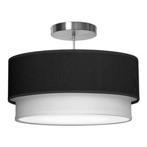 Luther Silk Ebony 16-Inch One-Light Pendant