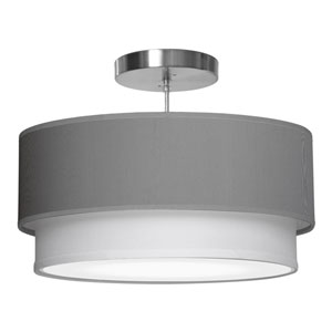 Luther Silk Gunmetal 16-Inch One-Light Pendant