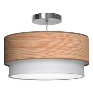 Luther Natural Veneer 16-Inch One-Light Pendant