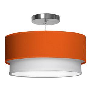 Luther Silk Orange 16-Inch One-Light Pendant