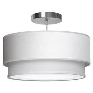 Luther Silk White 16-Inch One-Light Pendant