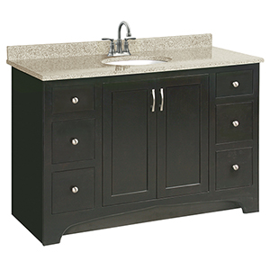 Ventura 2-Door 6-Drawer Vanity 48x21, Espresso