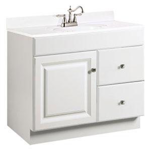 Wyndham 36 X 18 White  Two Drawer