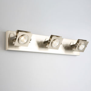 Otero 3-Light Direct Track Ceiling or Wall Light, Brushed Nickel