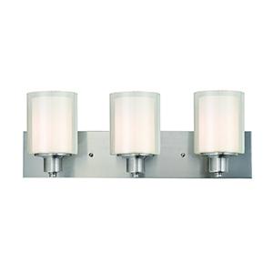 Penn 3-Light Vanity Light, Satin Nickel