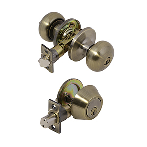 6-Way Universal Canton Entry Combo Knob, Antique Brass