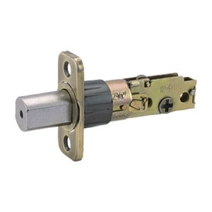 Universal Deadbolt Door Latch with Adjustable Backset, Antique Brass Finish
