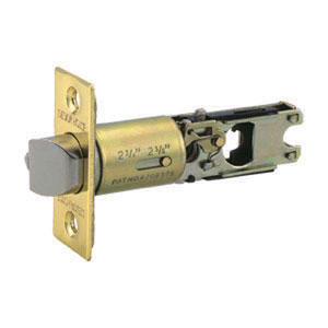 Two-Way Latch Replacement Deadbolt, Adjustable Backset, Polished Brass Finish