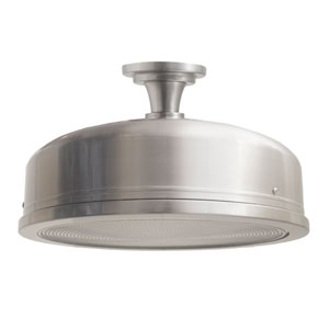 Farmstead Satin Nickel Flush-Mount Light