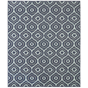 Oasis Morro Aqua Rectangular: 5 Ft. 3 In. x 7 Ft. 6 In. Rug