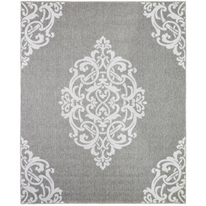 Oasis Paloma Silver Rectangular: 5 Ft. 3 In. x 7 Ft. 6 In. Rug